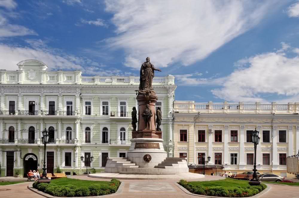 Памятник Екатерине 2 - основательнице города Одесса