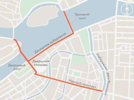 Схема пешеходной части Санкт-Петербурга в новогоднюю ночь.jpg